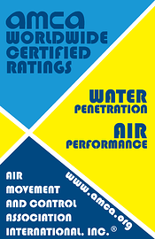 AMCA Seal for Air Performance and Water Penetration