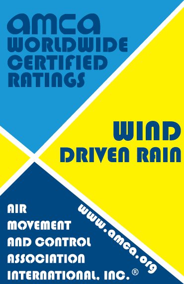 AMCA Seal for Wind Driven Rain