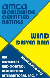 AMCA Seal for Wind Driven Rain