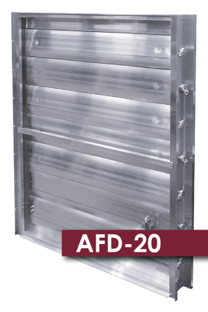 The AFD20 series control dampers are designed for air performance