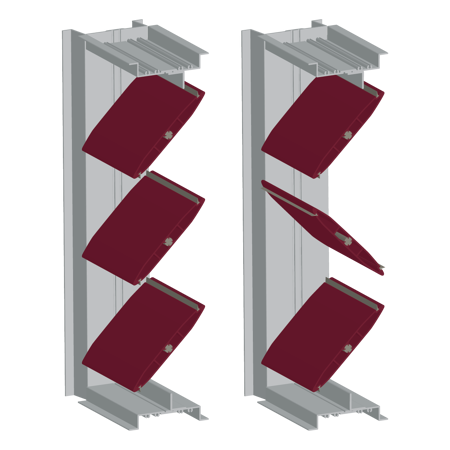 The AFD-20 is available with parallel or opposed blade orientation