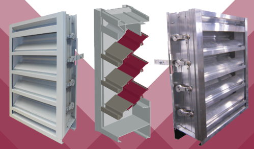 For combination adjustable louvers, the stationary blades keep that louvered look.