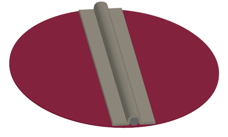 Round blades are designed to cover the opening of round dampers