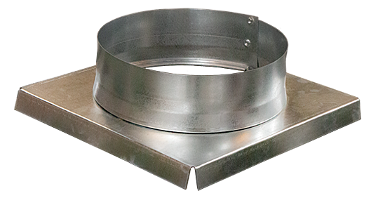 A round transition - this piece will allow a square damper to connect with round ductwork