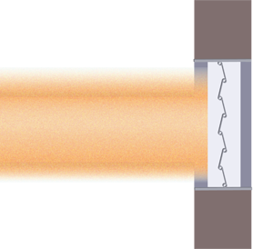 The salt spray test simulates the build up of dust and dirt as a damper operates inside a duct.