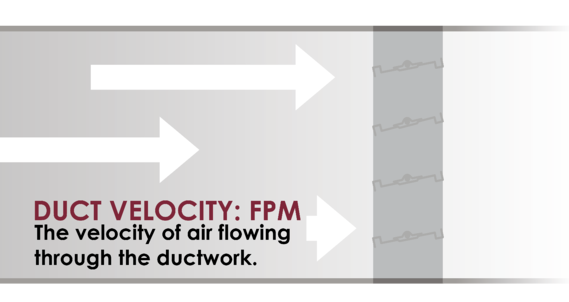 Duct velocity is the speed of air flowing through a duct.
