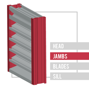 The sides of the louver frame are called the jambs