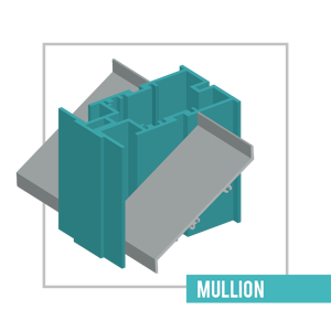Mullions are made when two louvers are installed side by side