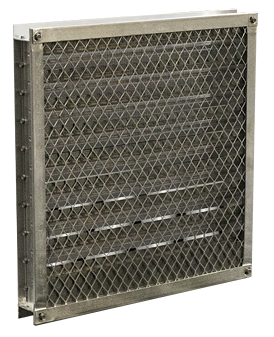 Screens are typically installed on the back of the louver