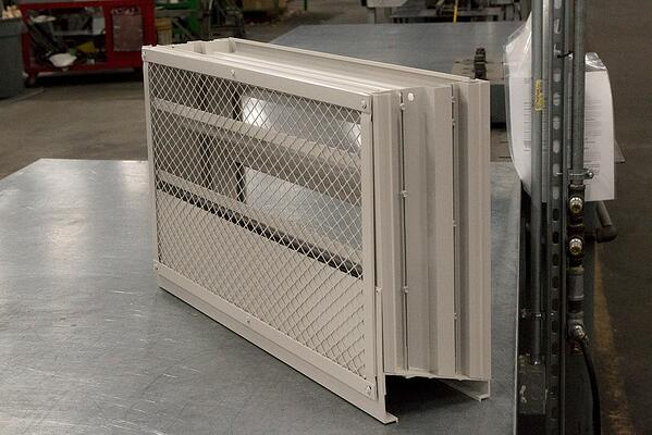 Bird screens can be installed on severe weather louvers