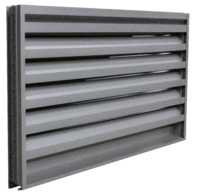 A louver suited for light protection from water penetration