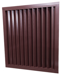 A louver suited for light protection from rainfall