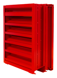 A hurricane louver, rated for high velocity wind driven rain protection
