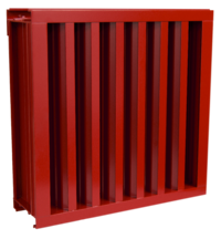 A louver suited for wind driven rain