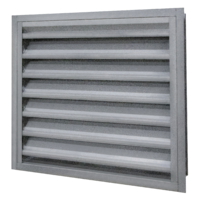 A louver suited for water penetration and air performance
