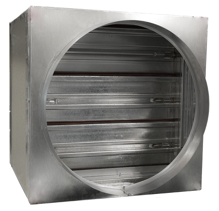 Life safety dampers are tested and rated to contain the spread of flames and noxious fumes.